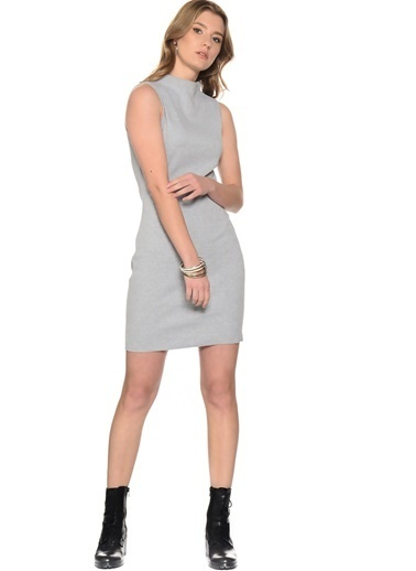 Missguided Missguided Gri Elbise Gri